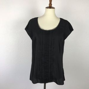 White House Black Market Pleated Top T336